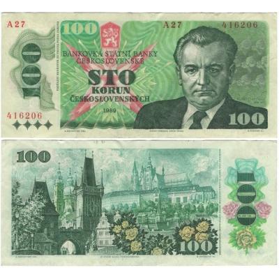100 korun 1989