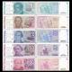 Argentina - sada 5 bankovek 1, 5,10,50,100 Australes UNC