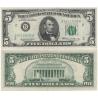 Spojené státy americké - bankovka 5 dolarů 1969, série B