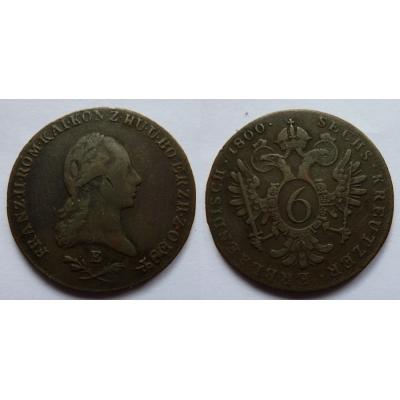 František I. - 6 krejcarů 1800 E