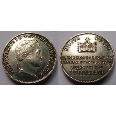 Ferdinand V. - korunovační žeton 1836 Praha