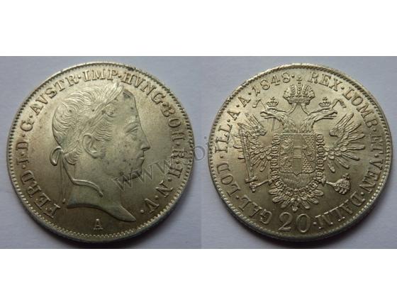 Ferdinand V. - 20 krejcarů 1848 A