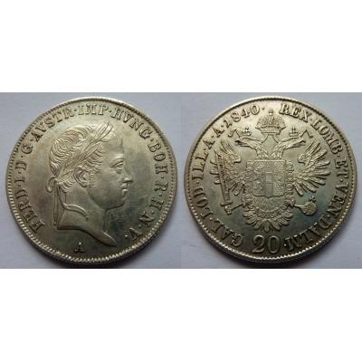 Ferdinand V. - 20 krejcarů 1840 A