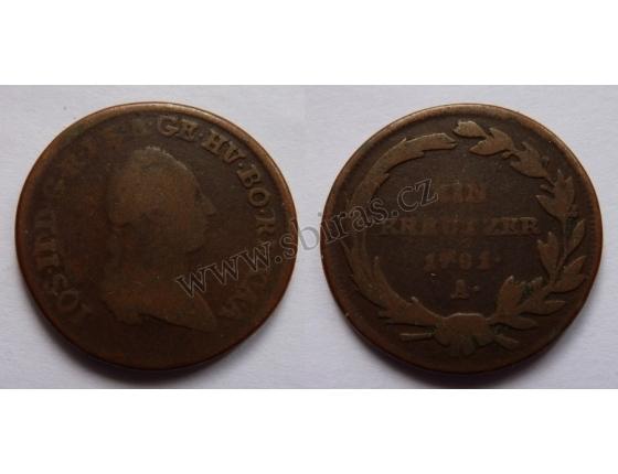 Josef II. - krejcar 1781 A