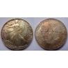 Spojené státy americké - velký stříbrný dolar 1987, patina