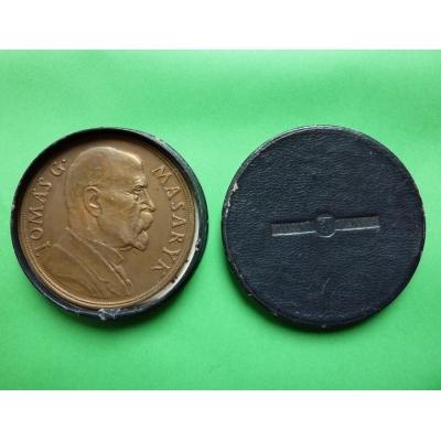 Bronze Medaille zum 85. Geburtstag T. G. Masaryk