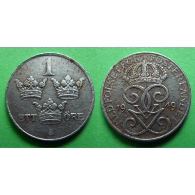 Švédsko - 1 Öre 1949