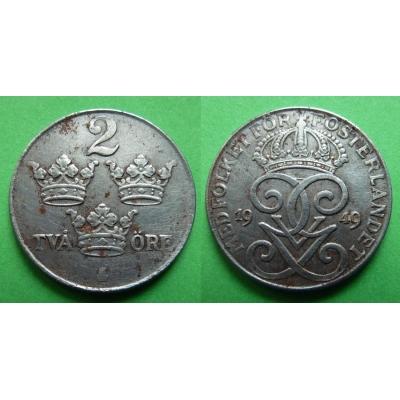 Švédsko - 2 Öre 1949