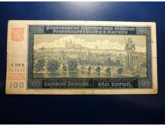 100 korun 1940 S.08B