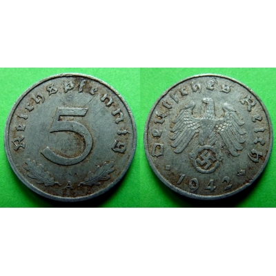 Nacistické Německo - 5 pfennig 1942 A
