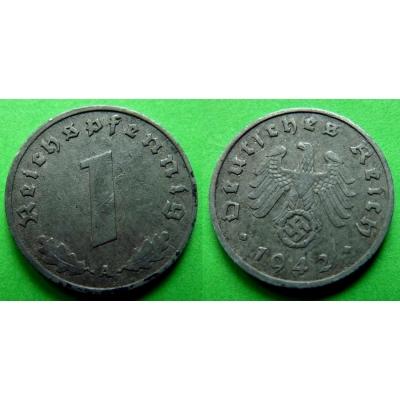 Nacistické Německo - 1 pfennig 1942 A