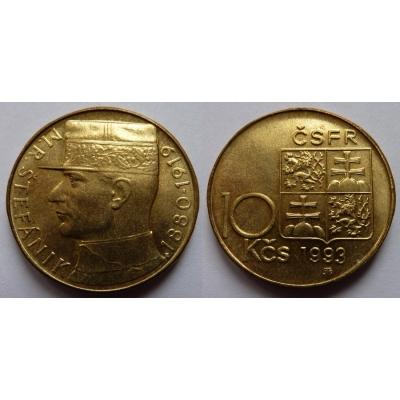 10 korun 1993 - M.R. Štefánik