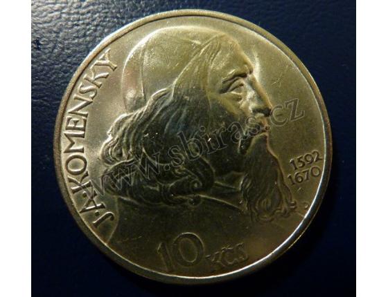 10 korun 1957 J.A. Komenský