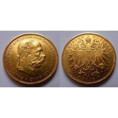 František Josef I. - 20 korun 1895