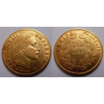 Francie - 10 franků 1862 A