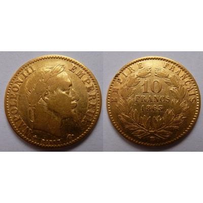 Francie - 10 franků 1863 B