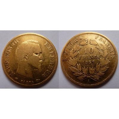 Francie - 10 franků 1857 A