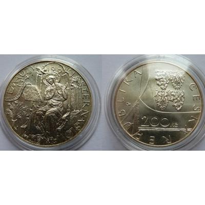 Česká republika - 200 korun 1997, 650 let Emauzského kláštera