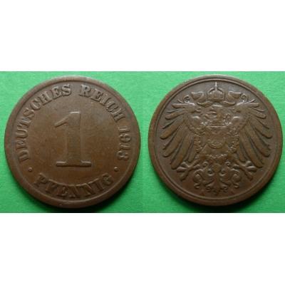 Německé císařství - 1 pfennig 1913