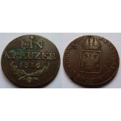 František I. - mince 1 Krejcar 1816 O