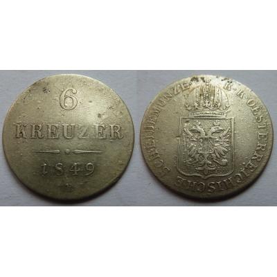 6 krejcarů 1849 A