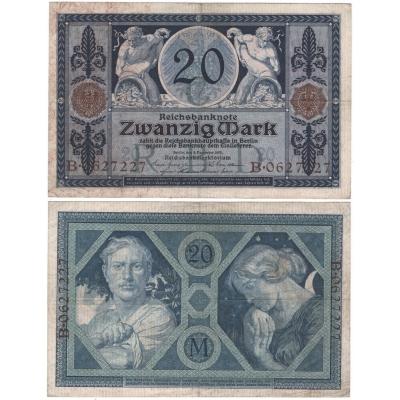 Německé císařství, 1. světová válka - bankovka 20 marek 1915