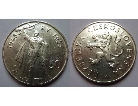 50 Kčs 1955 - Desáté výročí osvobození ČSR