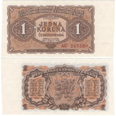 1 koruna 1953 UNC