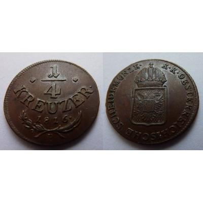 František I. - 1/4 krejcaru 1816 B