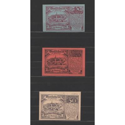 Rakousko - sada 3 nouzových bankovek 1920, Innbach