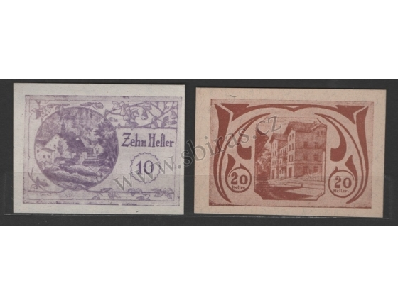 Rakousko - sada 2 nouzových bankovek 1920, Gchardenberg