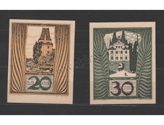 Rakousko - sada 2 nouzových bankovek 1920