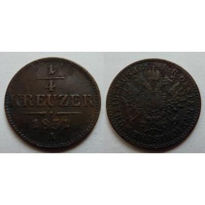 František Josef I. - 1/4 krejcar 1851 A