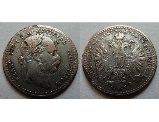 10 krejcarů 1870 A