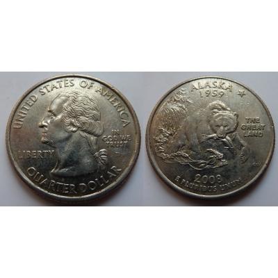 Spojené státy americké - 1/4 dolaru 2008