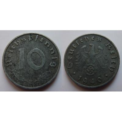 Nacistické Německo - 10 pfennig 1940 E