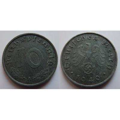 Nacistické Německo - 10 pfennig 1940 A