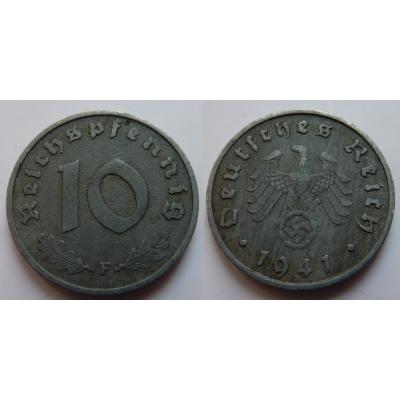 Nacistické Německo - 10 pfennig 1941 F