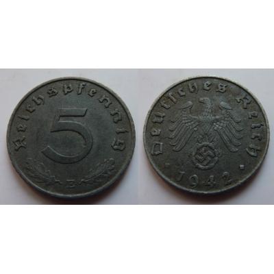 Nacistické Německo - 5 pfennig 1942 E