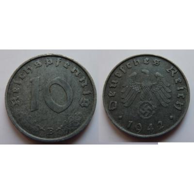 Nacistické Německo - 10 pfennig 1942 B