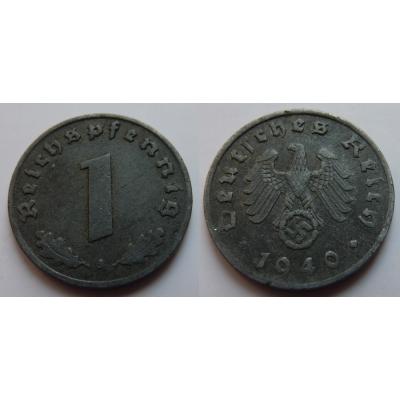 Nacistické Německo - 1 pfennig 1940 A