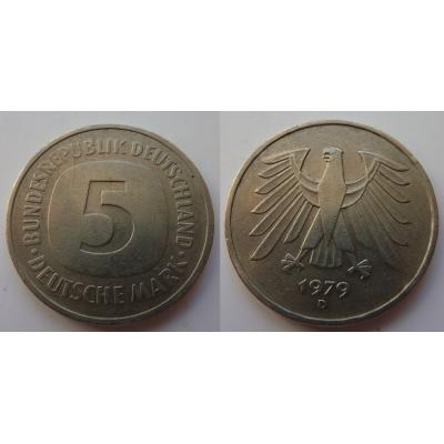 Německo - 5 Mark 1979 D