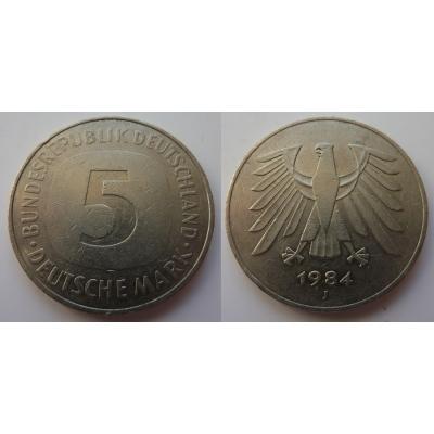 Německo - 5 Mark 1984 J