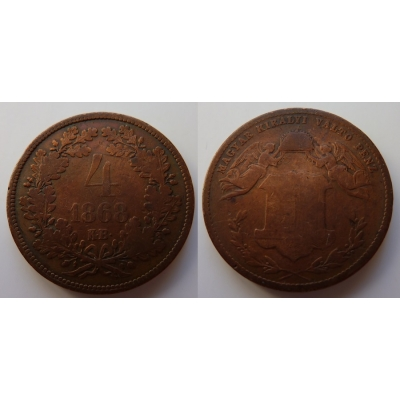 4 krejcary 1868 K.B.