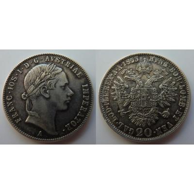 František Josef I. - 20 krejcarů 1853 A