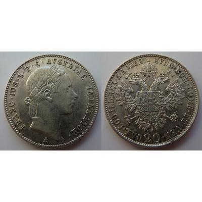 František Josef I. - 20 krejcarů 1852 A