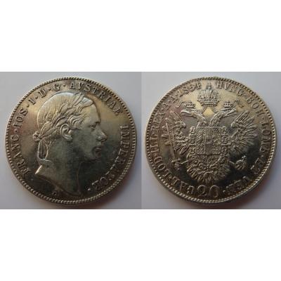 František Josef I. - 20 krejcarů 1854 A