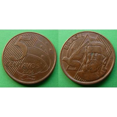 Brazílie - 5 centavos 2006