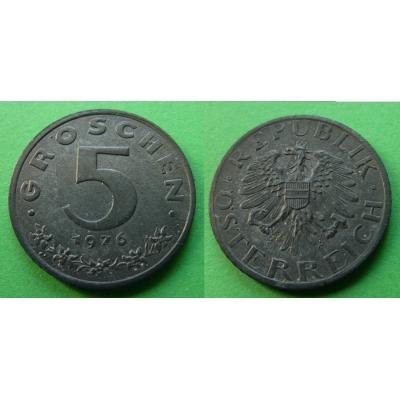 Rakousko - 5 groschen 1976
