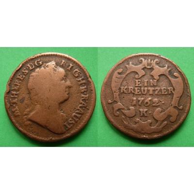 Marie Terezie - mince 1 krejcar 1762